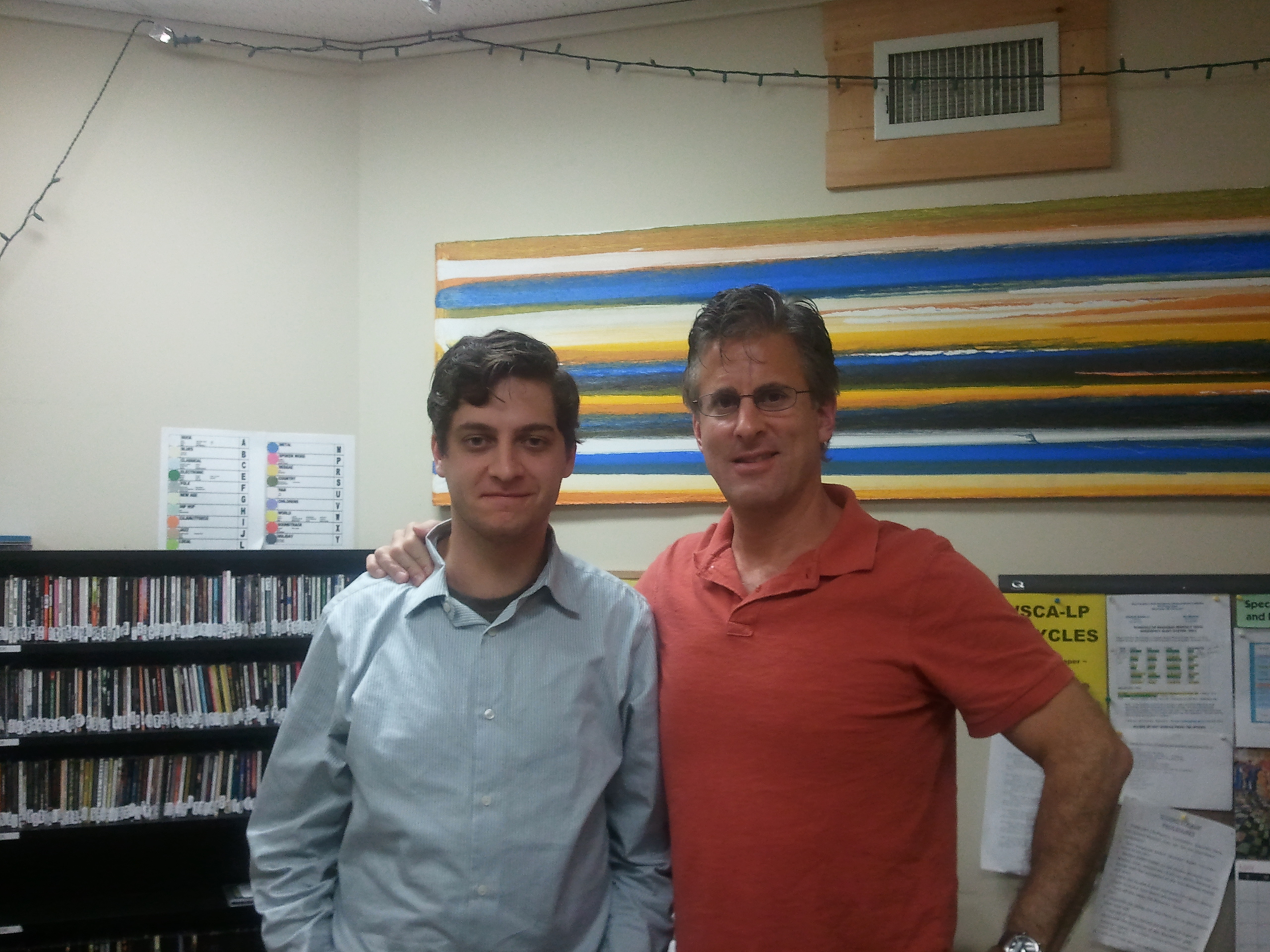 Mike Finger & Dan Belforti at Portsmouth Community Radio, 106.1 FM